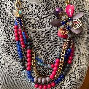 Jewelry - Multicolor chunky necklace what a statement piece